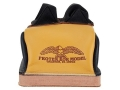 Product detail of Protektor Deluxe Double Stitched Bunny Ear Rear Shooting Rest Bag with Heavy Doughnut Bottom Leather and Cordura Black and Yellow Unfilled