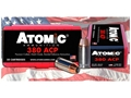 Product detail of Atomic Ammunition 380 ACP 90 Grain Bonded Jacketed Hollow Point Box of 50