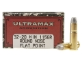 Product detail of Ultramax Cowboy Action Ammunition 32-20 WCF 115 Grain Lead Flat Nose Box of 50