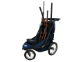 Product detail of Rugged Gear Standard Four Gun Shooting Cart with Swivel Front Wheel Blue with Flat Free Tires