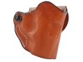 Product detail of DeSantis Mini Scabbard Outside the Waistband Holster Right Hand Beretta Nano Leather Tan