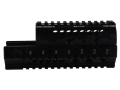 Product detail of Midwest Industries 2-Piece Handguard Quad Rail Saiga AK-47 Aluminum Black