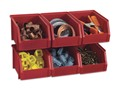 Product detail of Stack-On Stackable Storage Bin Small Red Package of 6