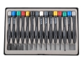 Product detail of Steelex Mini Screwdriver Set 15-Piece Steel