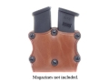 Product detail of Hunter 5600 Pro-Hide Double Magazine Pouch Open Top Single-Stack Magazine Leather Brown