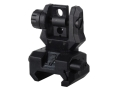 Product detail of Command Arms Spring-Actuated Low Profile Flip-Up Rear Sight AR-15 Flat-Top Polymer Black