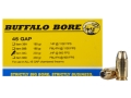 Product detail of Buffalo Bore Ammunition 45 GAP 230 Grain Jacketed Hollow Point Box of 20