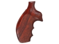 Product detail of Hogue Fancy Hardwood Grips with Finger Grooves Taurus Medium and Large Frame Revolvers Round Butt Checkered