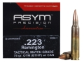 Product detail of ASYM Precision Tactical Match Ammunition 223 Remington 75 Grain Open-Tip Match (OTM) with Cannelure Box of 50