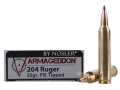 Product detail of Nosler Varmageddon Ammunition 204 Ruger 32 Grain Tipped Flat Base Box of 20