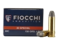 Product detail of Fiocchi Shooting Dynamics Ammunition 38 Special 158 Grain Lead Round Nose Box of 50