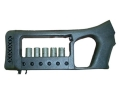 Product detail of Choate Mark 6 Pistol Grip Buttstock with Integral Shotshell Ammunition Carrier Remington 870 Synthetic Black