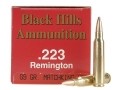 Product detail of Black Hills Ammunition 223 Remington 69 Grain Sierra MatchKing Hollow Point Box of 50