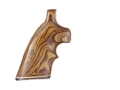 Product detail of Hogue Fancy Hardwood Grips with Accent Stripe and Top Finger Groove Taurus Medium and Large Frame Revolvers Square Butt