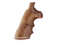 Product detail of Hogue Fancy Hardwood Grips with Accent Stripe, Finger Grooves and Contrasting Butt Cap Colt Anaconda, King Cobra