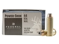 Product detail of Federal Power-Shok Hunting Ammunition 44 Remington Magnum 180 Grain Jacketed Hollow Point Box of 20