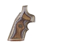Product detail of Hogue Fancy Hardwood Grips with Accent Stripe and Top Finger Groove Dan Wesson Small Frame Checkered