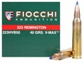 Product detail of Fiocchi Extrema Ammunition 223 Remington 40 Grain Hornady V-Max Ammun...