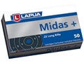 Product detail of Lapua Midas+ Ammunition 22 Long Rifle 40 Grain Lead Round Nose
