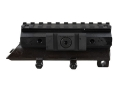 Product detail of NcStar Tactical Weaver-Style Tri-Rail Mount with Adjustable Side Tabs SKS Matte