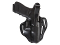 Product detail of Bianchi 77 Piranha Belt Holster Right Hand Glock 26 Leather Black