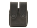 Product detail of Uncle Mike's Double Magazine Pouch Single Stack Magazine Molded Insert Snap Closure Nylon Black