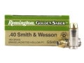 Product detail of Remington Golden Saber Ammunition 40 S&W 180 Grain Brass Jacketed Hollow Point Box of 25