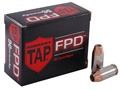 Product detail of Hornady TAP Personal Defense Ammunition 45 ACP +P 200 Grain Jacketed Hollow Point Box of 20