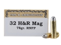 Product detail of Ten-X Cowboy Ammunition 32 H&R Magnum 78 Grain Lead Round Nose Box of 50