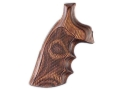 Product detail of Hogue Fancy Hardwood Conversion Grips with Finger Grooves S&W N-Frame Round to Square Butt Checkered