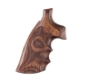 Product detail of Hogue Fancy Hardwood Grips with Finger Grooves Taurus Medium and Large Frame Revolvers Square Butt Checkered Rosewood Laminate
