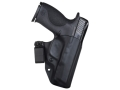 "Product detail of Blade-Tech Razor Inside the Waistband Holster Right Hand with 1-1/2"" Belt Loop 1911 Commander Kydex Black"