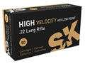 Product detail of SK High Velocity HP Ammunition 22 Long Rifle 40 Grain Lead Hollow Poi...