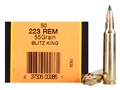 Product detail of HSM Ammunition 223 Remington 55 Grain Sierra BlitzKing Polymer Tip Boat Tail