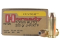 Product detail of Hornady Custom Ammunition 10mm Auto 200 Grain XTP Jacketed Hollow Point Box of 20