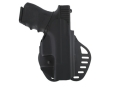 Product detail of Hogue PowerSpeed Concealed Carry Holster Outside the Waistband (OWB) Right Hand Glock 19, 23, 32, 39  Polymer Black