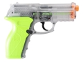 Product detail of Crosman Z11 Zombie Eliminator Airsoft Pistol 6mm CO2 Full-Automatic Polymer Clear and Green