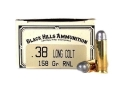 Product detail of Black Hills Cowboy Action Ammunition 38 Long Colt 158 Grain Lead Round Nose Box of 50