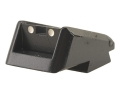 Product detail of Novak Adjustable Extreme Duty LoMount Carry Rear Sight 1911 Standard Rear Cut Steel Black with White Dots