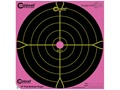"Product detail of Caldwell Orange Peel Pink Targets 12"" Self-Adhesive Bullseye Package of 5"