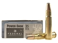 Product detail of Federal Power-Shok Ammunition 35 Remington 200 Grain Round Nose Soft Point Box of 20