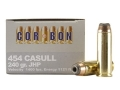 Product detail of Cor-Bon Hunter Ammunition 454 Casull 240 Grain Jacketed Hollow Point Box of 20