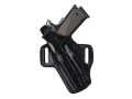 Product detail of Galco Fletch Belt Holster Left Hand Ruger P85, P89, P90, P94 Leather Black