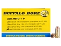 Product detail of Buffalo Bore Ammunition 380 ACP +P 95 Grain Jacketed Hollow Point Box of 20