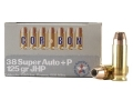 Product detail of Cor-Bon Self-Defense Ammunition 38 Super +P 125 Grain Jacketed Hollow Point Box of 20