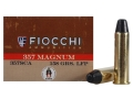 Product detail of Fiocchi Cowboy Action Ammunition 357 Magnum 158 Grain Lead Round Nose Flat Point Box of 50