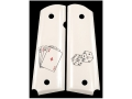 Product detail of Hogue Grips 1911 Government, Commander Ivory Polymer Aces/Dice Pattern