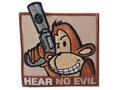 Product detail of Advanced Armament Co (AAC) Monkey Hear No Evil Patch Hook-&-Loop Fastener Tan