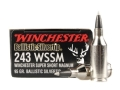 Product detail of Winchester Supreme Ammunition 243 Winchester Super Short Magnum (WSSM) 95 Grain Ballistic Silvertip