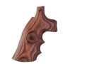 Product detail of Hogue Fancy Hardwood Grips with Finger Grooves Dan Wesson Small Frame Rosewood Laminate